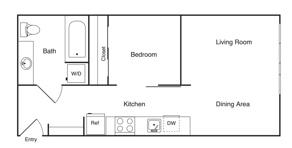 1 Bedroom C- Income Restricted
