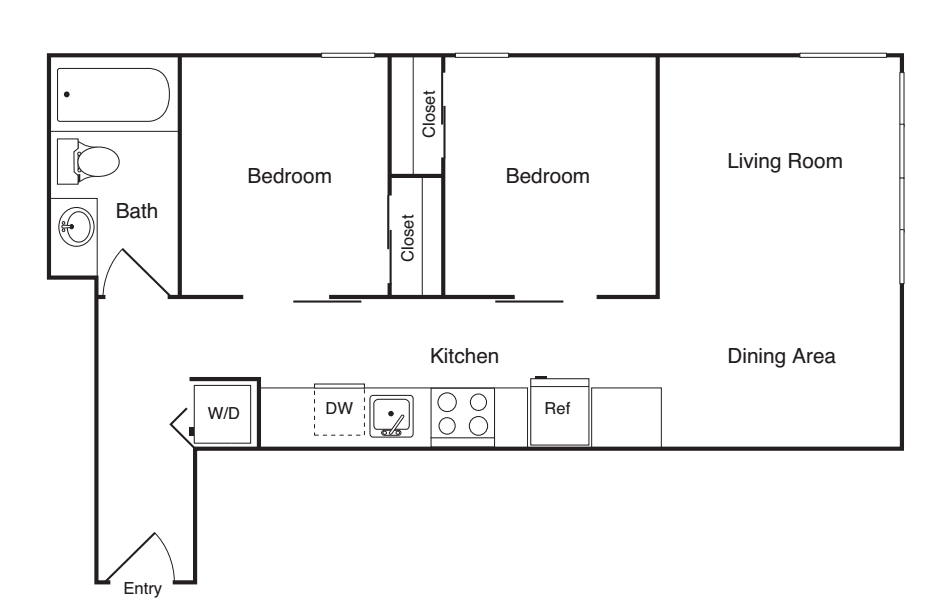 2 Bedroom A- Income Restricted