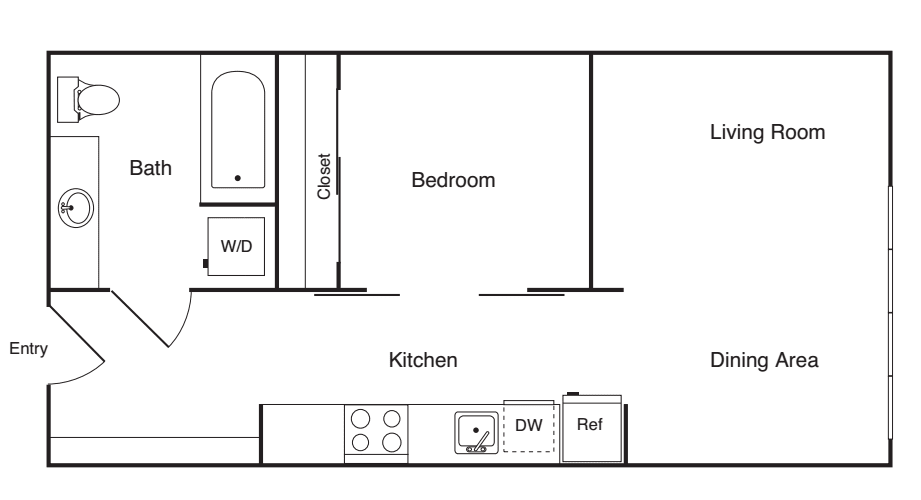 1 Bedroom B- Income Restricted