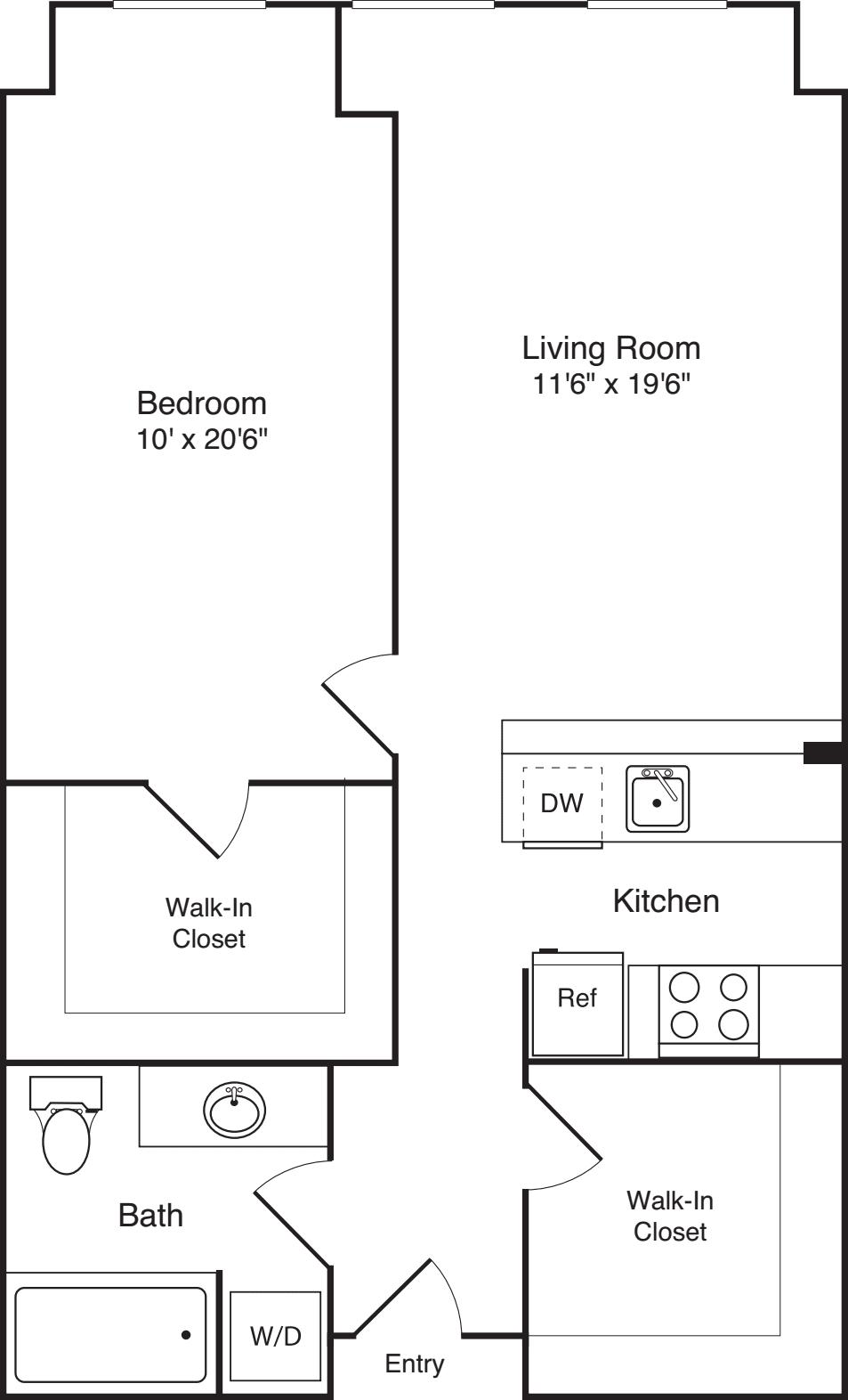 1 Bedroom N plus Den