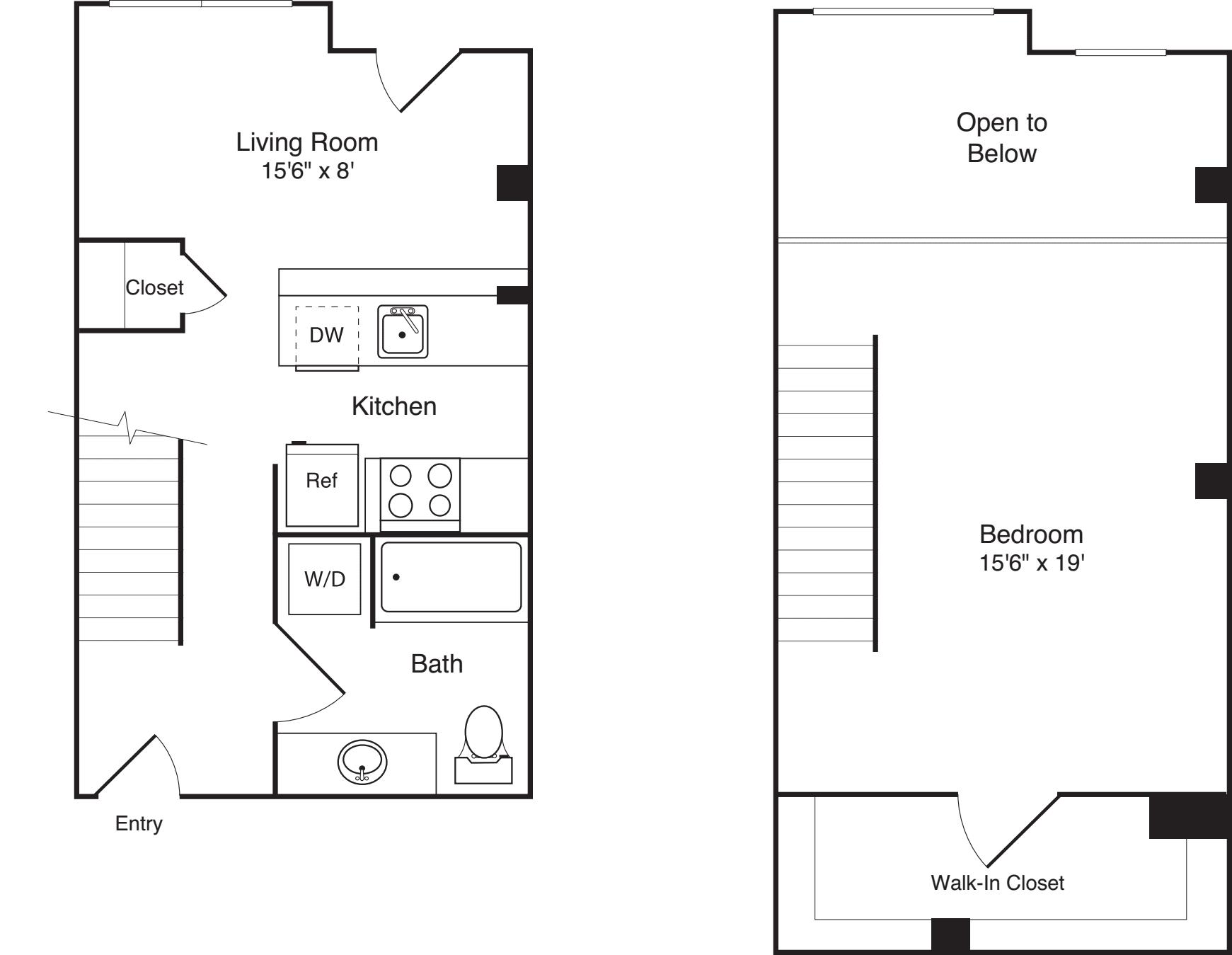 1 Bedroom Loft B