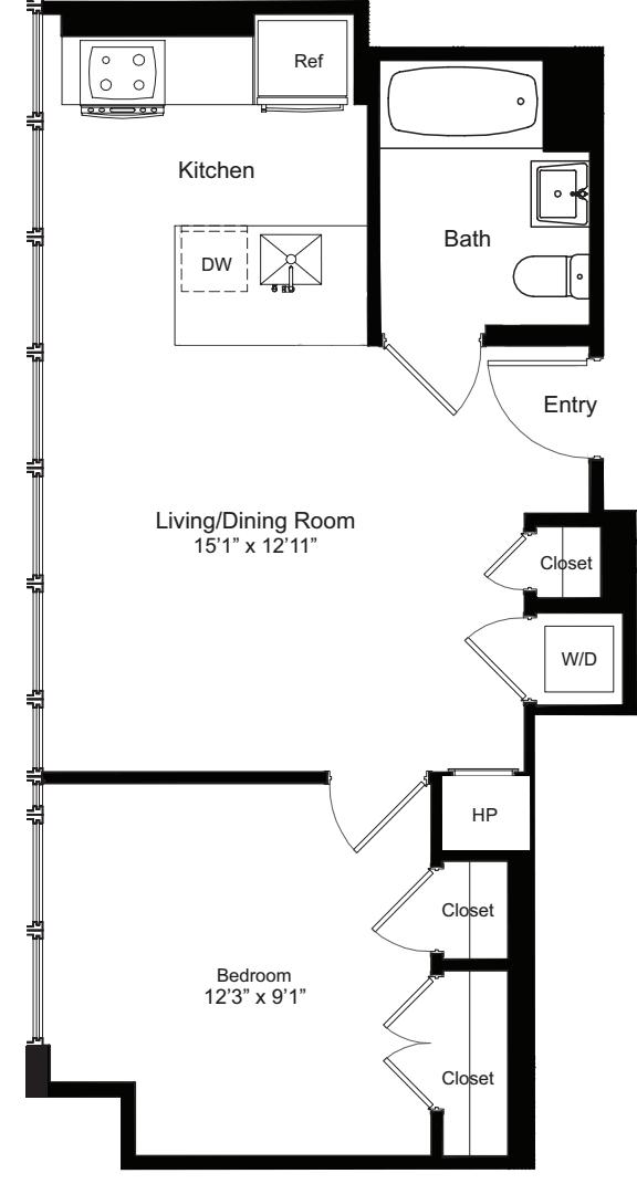 One Bedroom C 15-20
