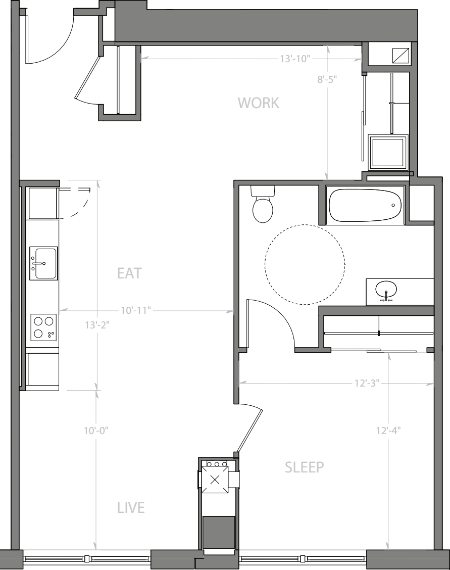 1 Bedroom P with Den