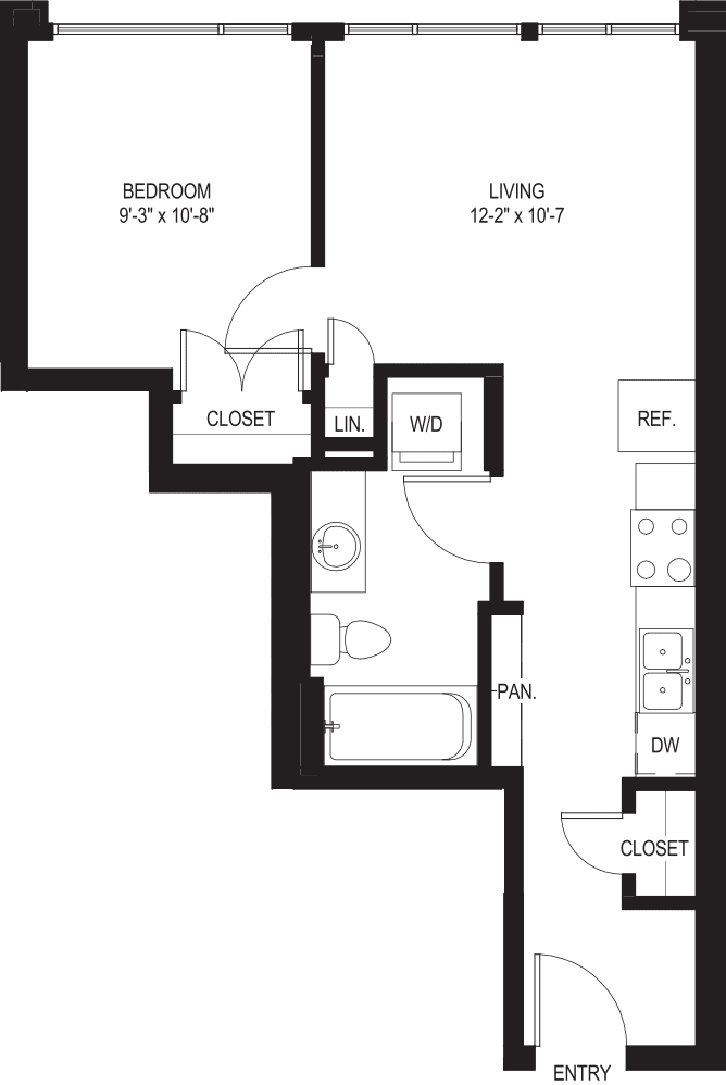 One Bedroom A4-A
