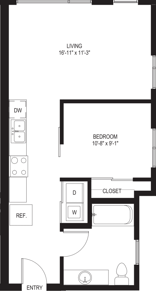 One Bedroom A3-A
