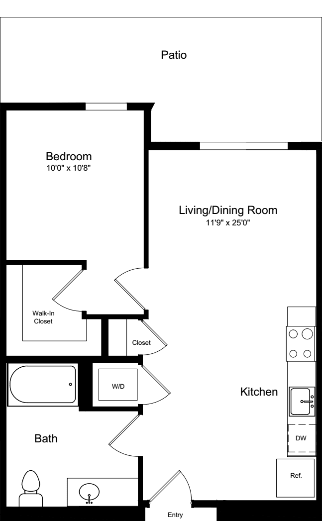 1 Bedroom A4 with Patio