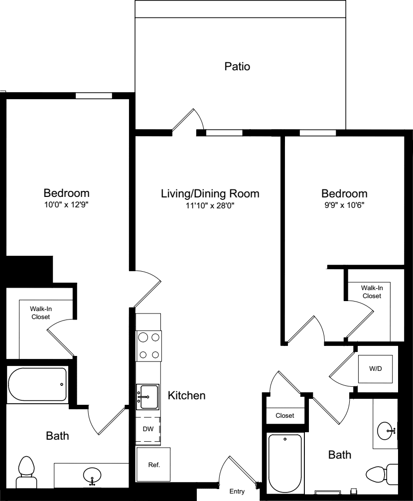 2 Bedroom A5 with Patio