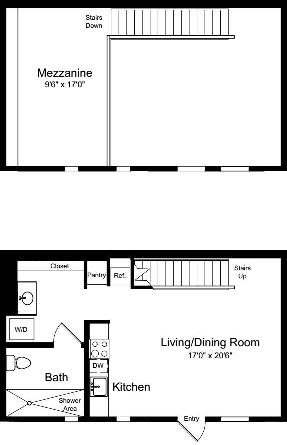 One Bedroom Loft C