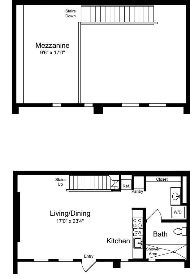 One Bedroom Loft A