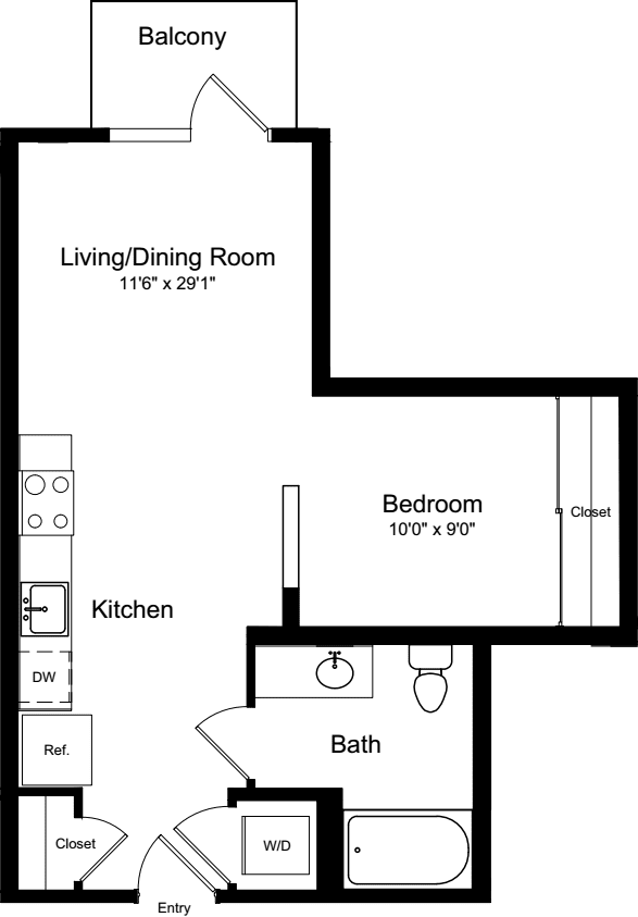 Junior 1 Bedroom with Balcony