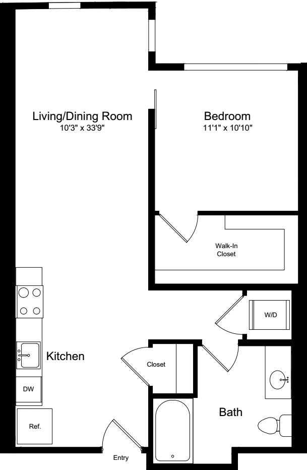 1 Bedroom G-3