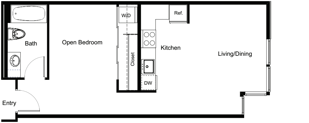 Open 1 Bedroom B