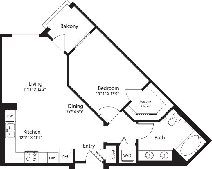 1 Bed- E02
