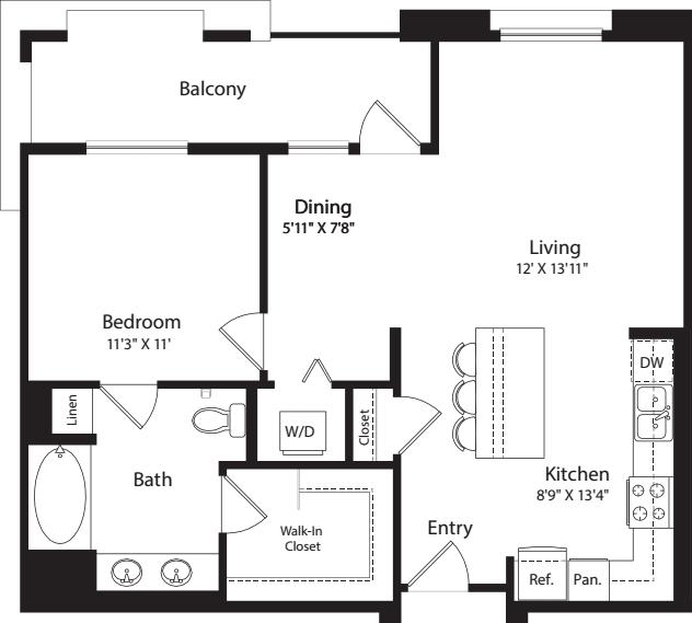1 Bed- E05