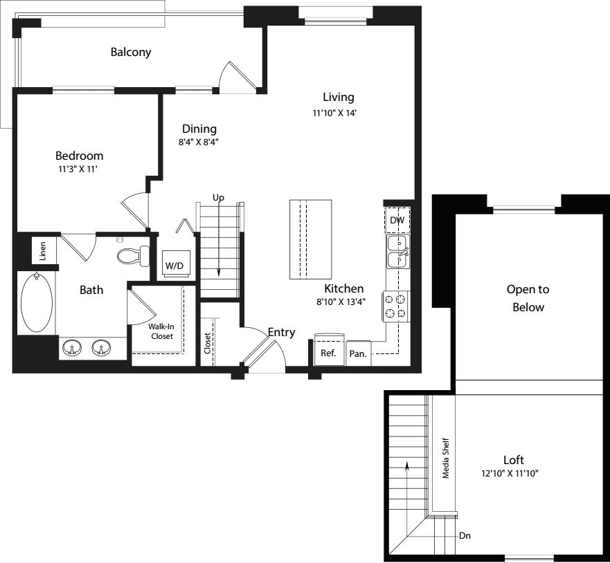 1 Bed- U21 Loft 961