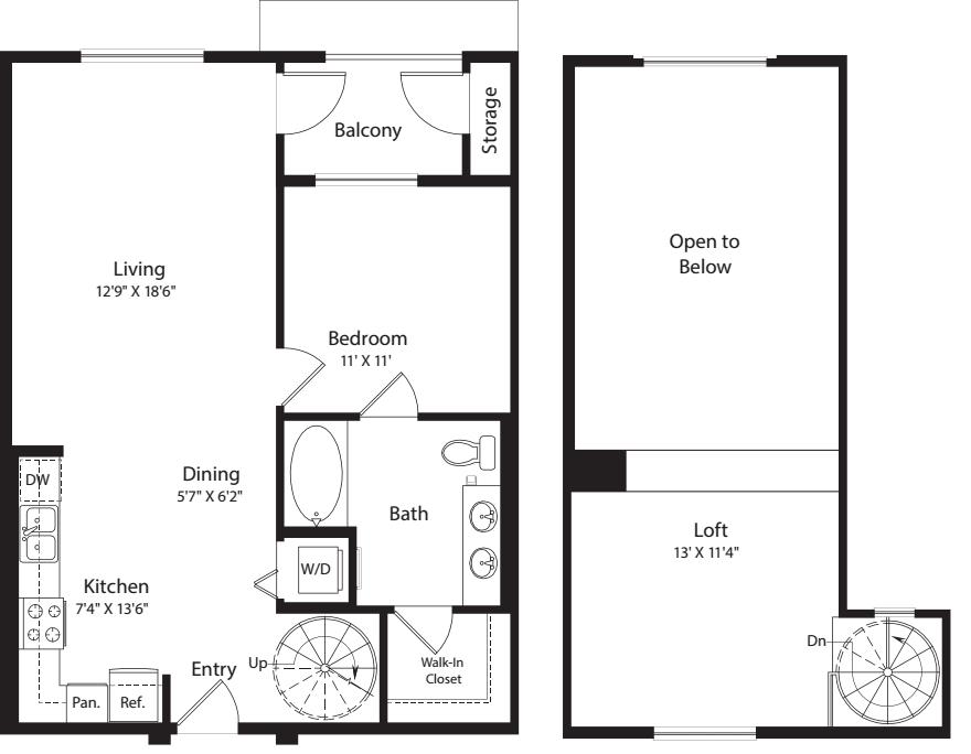 1 Bed- U20 Loft