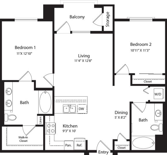 2 Bed- E01