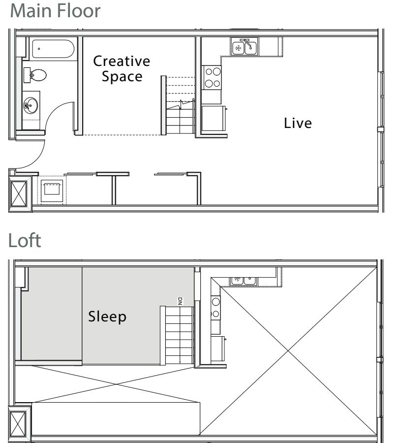 1 Bedroom Loft D