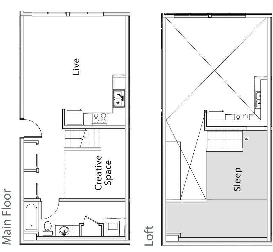 1 Bedroom Loft E