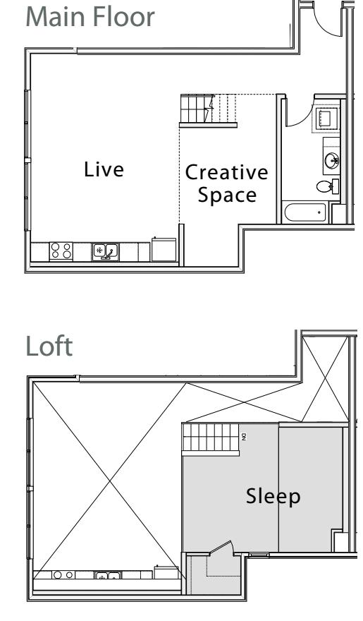 1 Bedroom Loft G