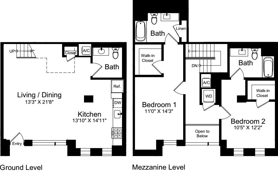 2 Bedroom U