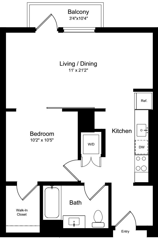 1 Bedroom AB