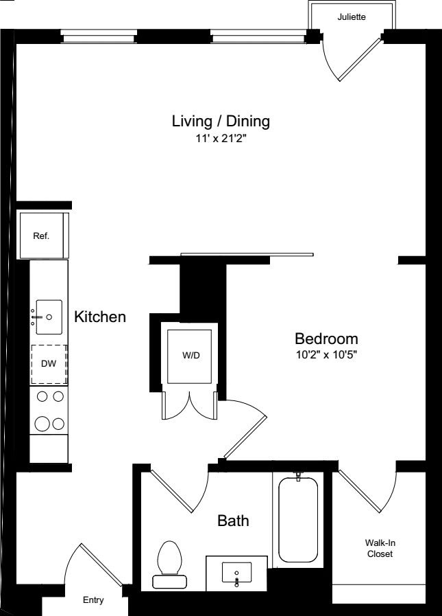 1 Bedroom IJ