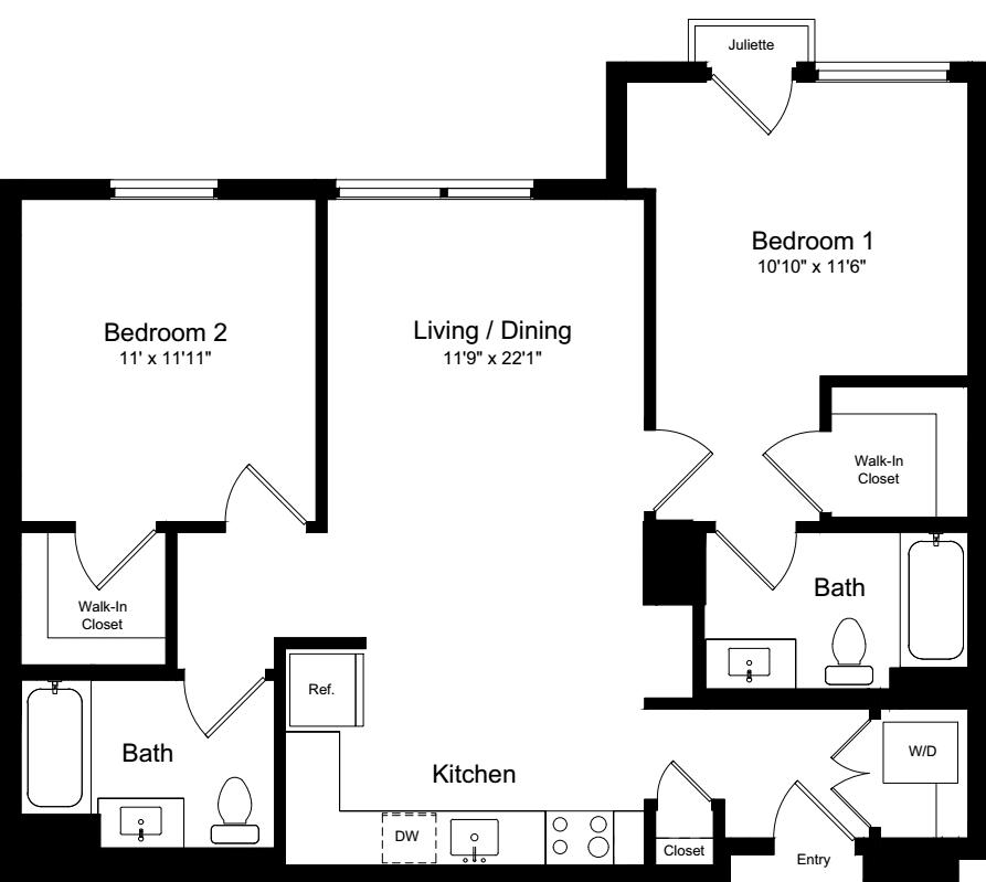 2 Bedroom BJ