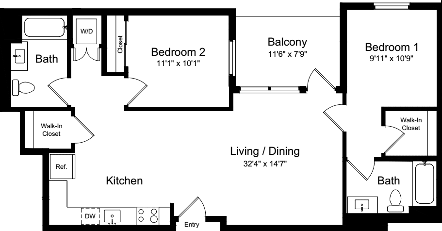2 Bedroom CB