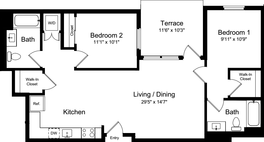 2 Bedroom CT