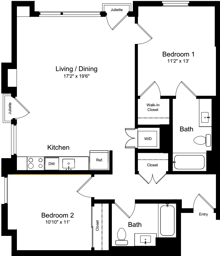 2 Bedroom LJJ