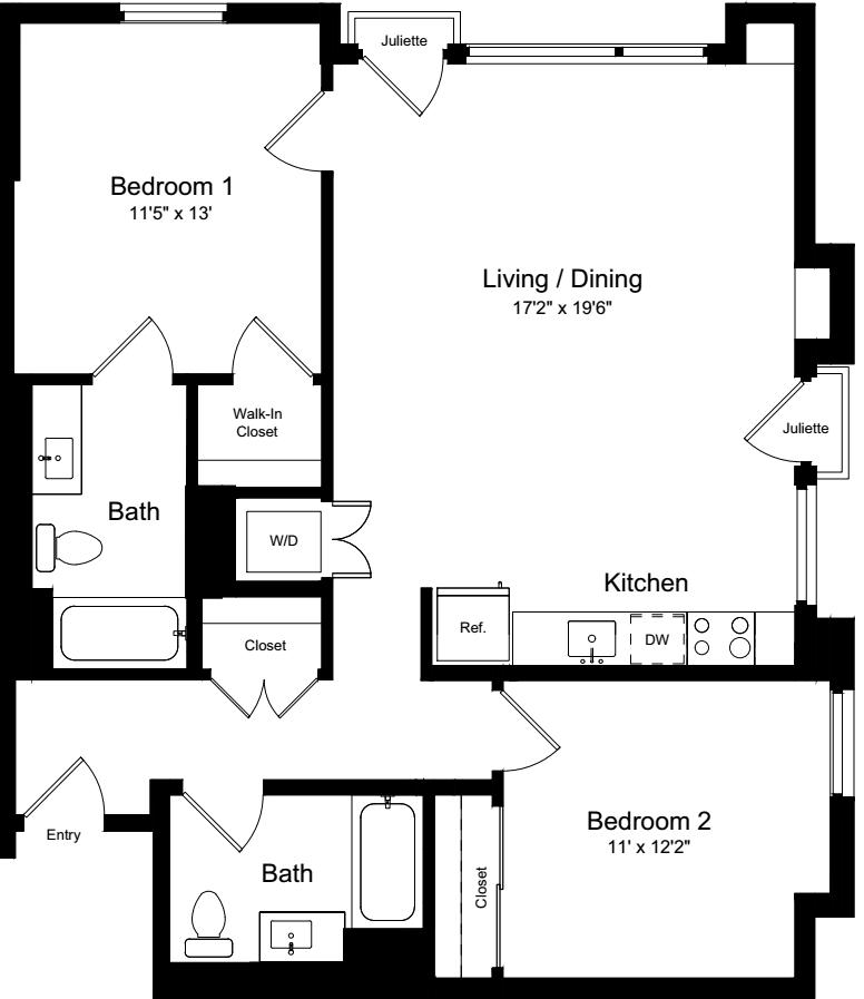 2 Bedroom FJJ