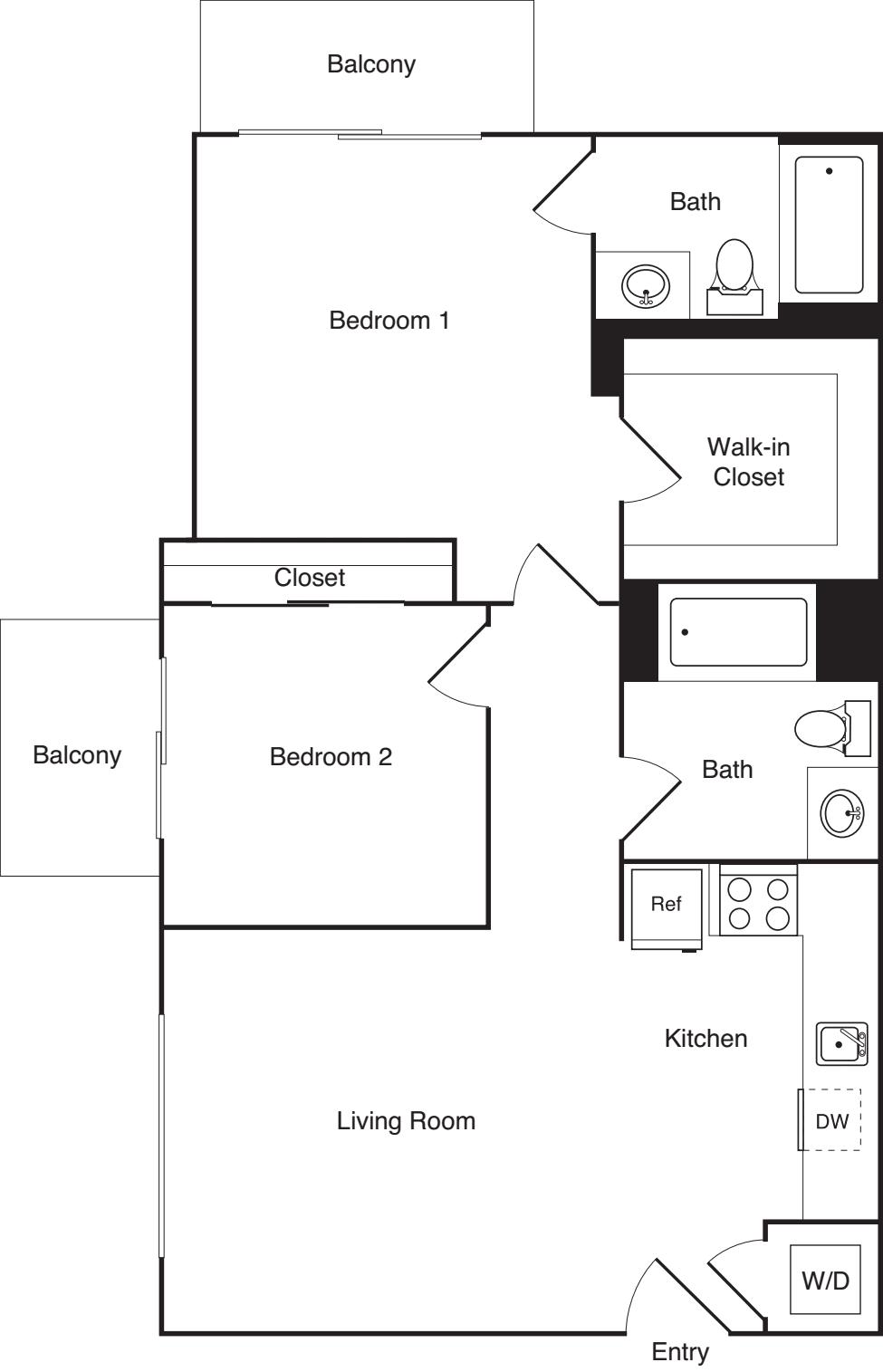 2 Bedroom K