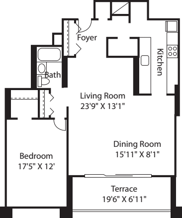Longfellow One Bedroom Large