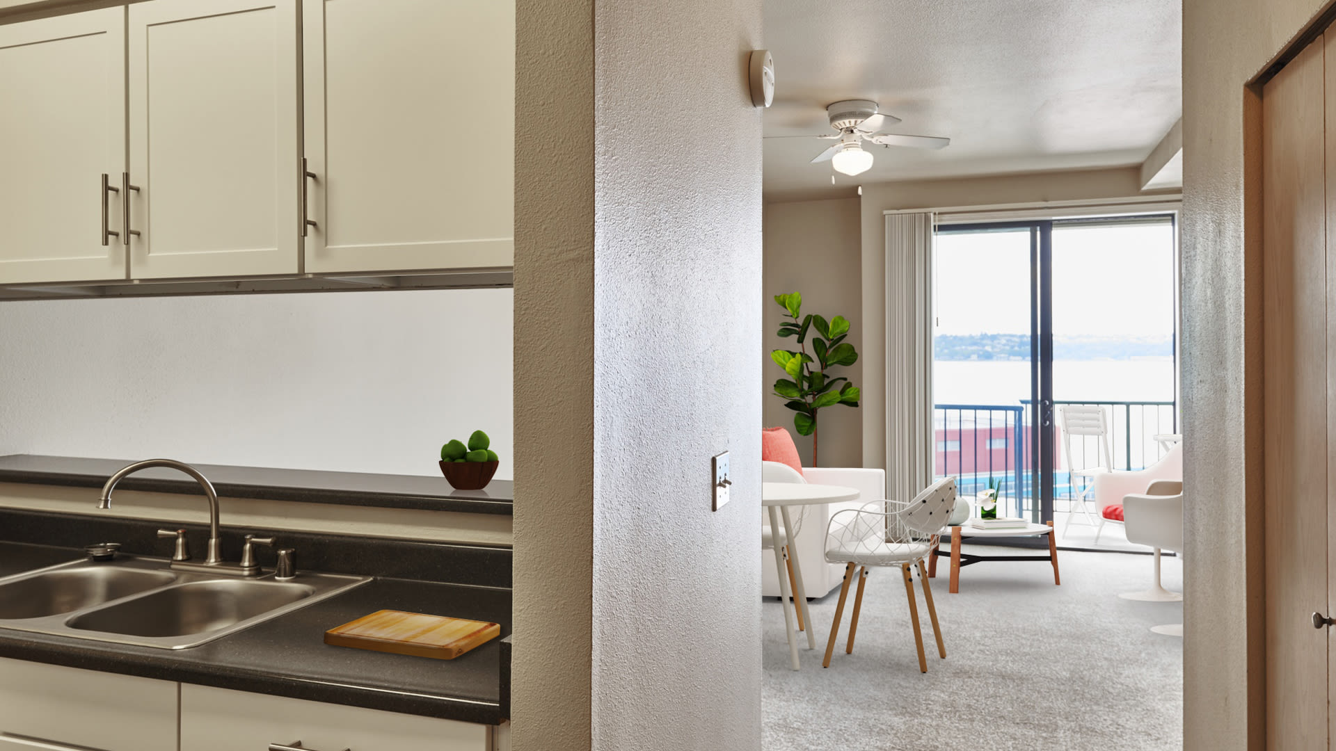 2300 Elliot Apartments - Kitchen and Living Room