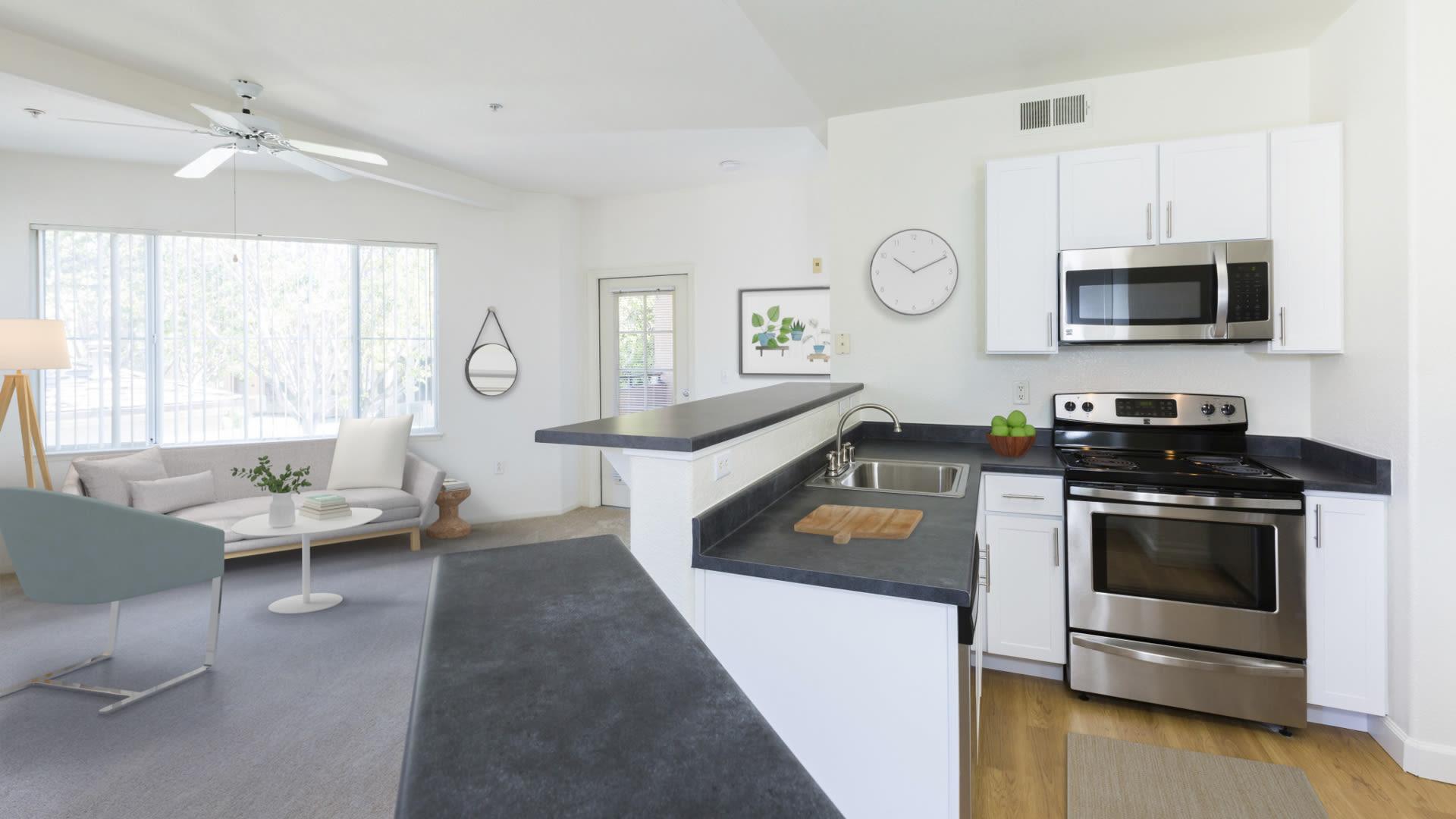 Alborada Apartments - Kitchen with Breakfast Bar