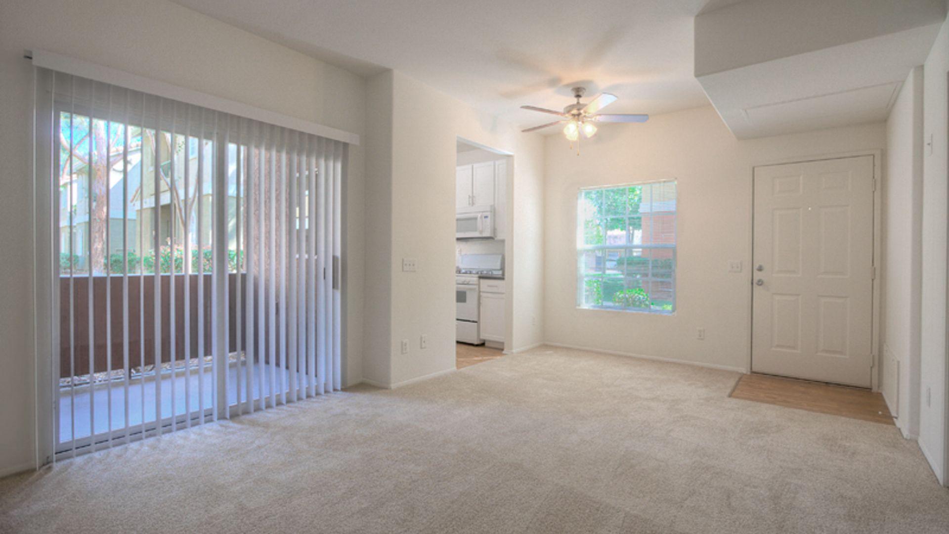 Ridgewood Village Apartments - Living Room and Balcony