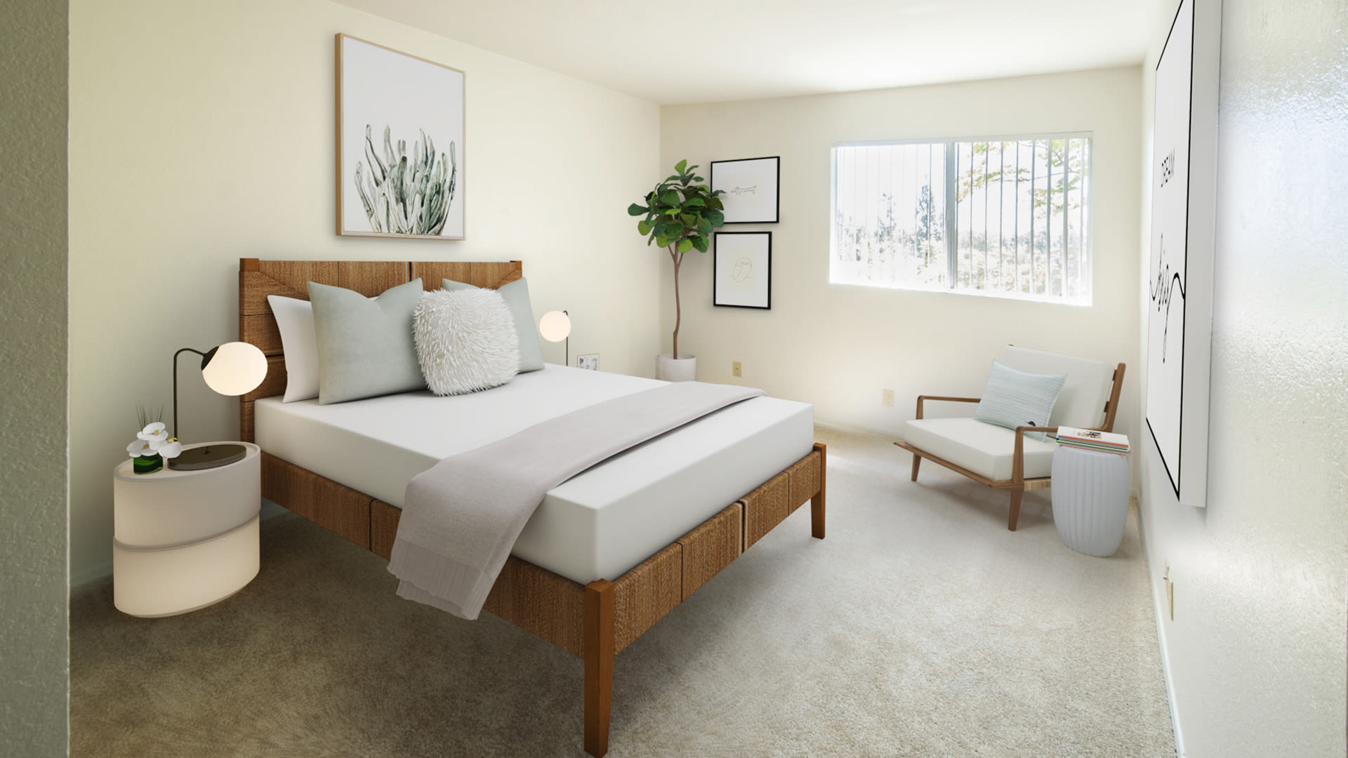 Siena Terrace Apartments - Carpeted Bedroom