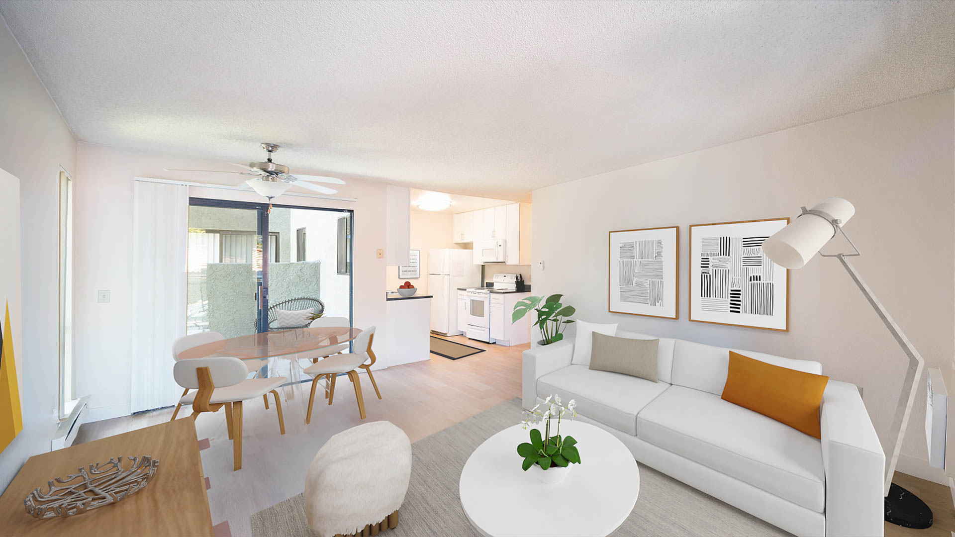 Skylark Apartments - Living and Dining Area