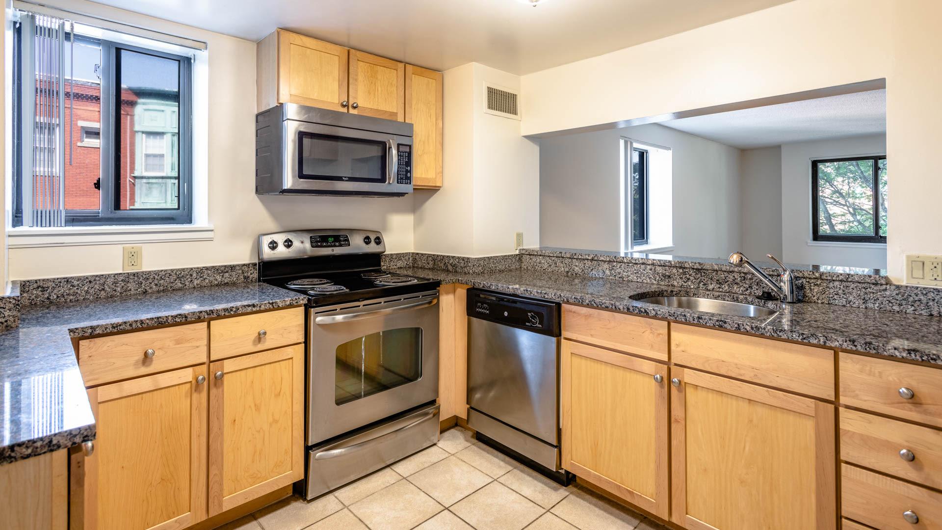 Gateway at Malden Center Apartments - Kitchen