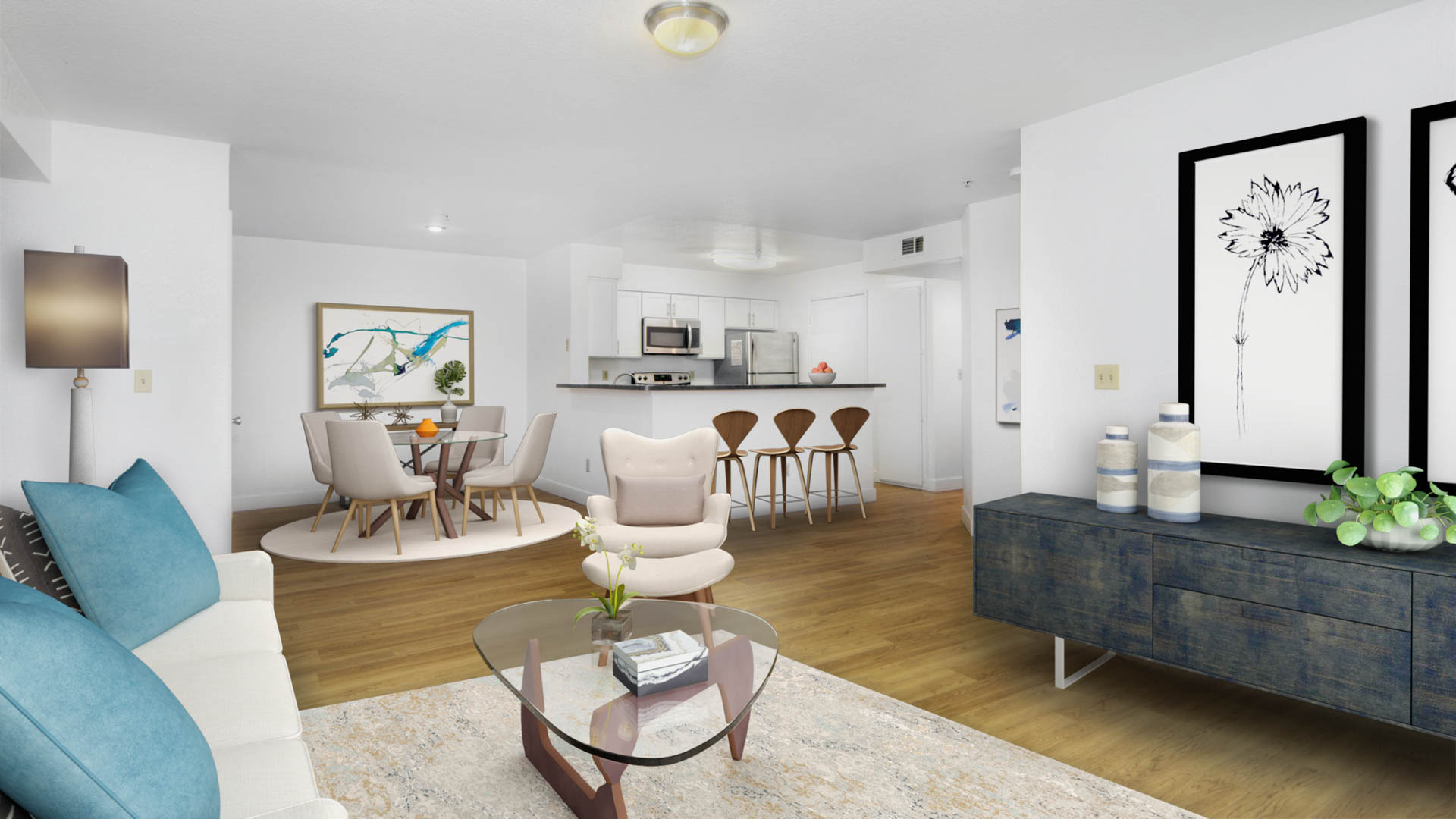 Mill Creek Apartments - Living Area
