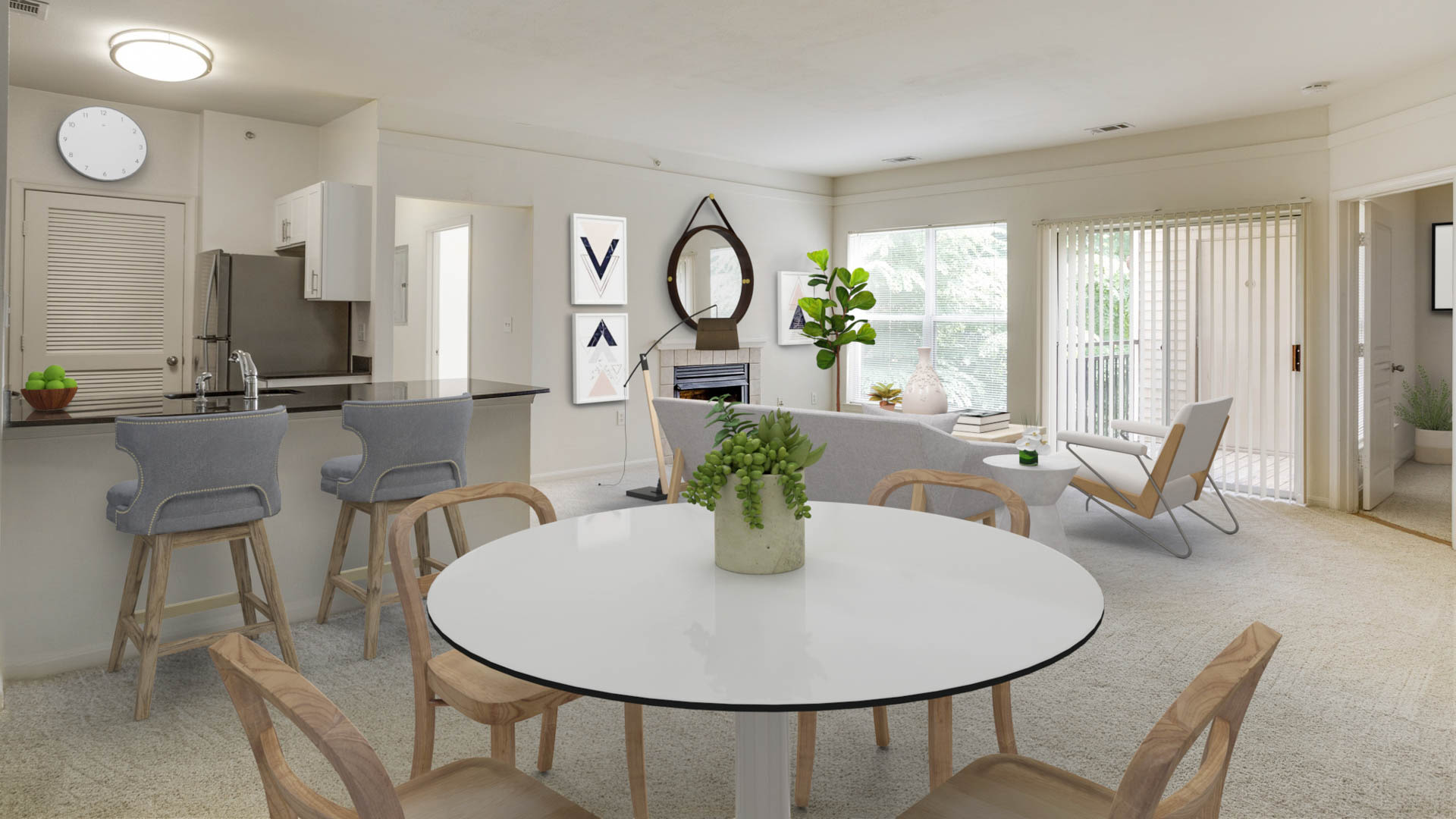 Carlyle Mill Apartments - Living and Dining Area