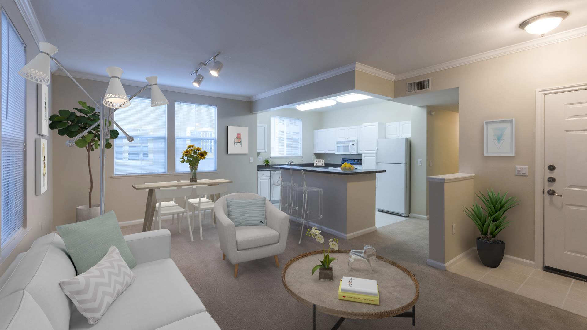 Promenade at Town Center Apartments - Living Room