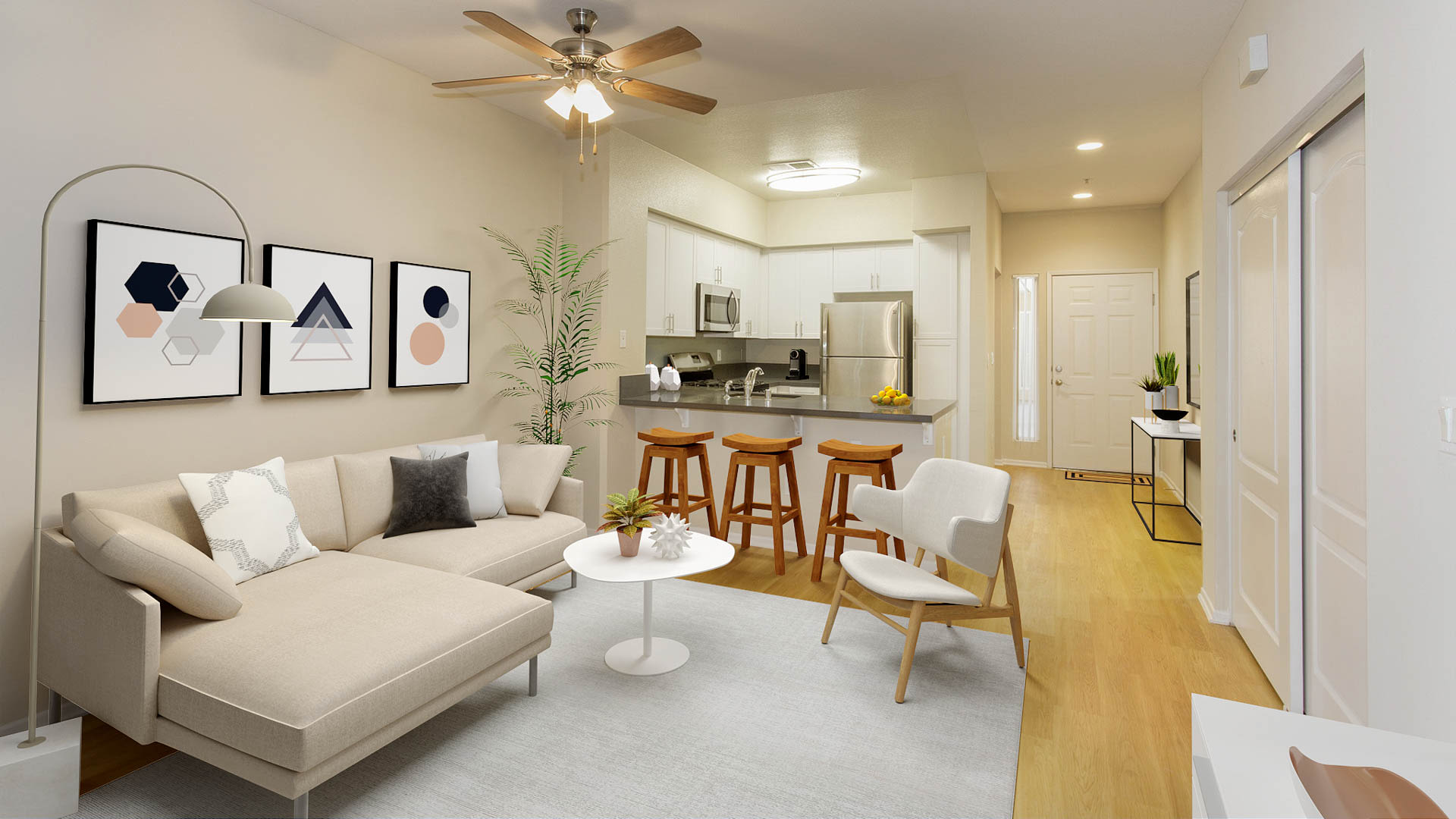 Bay Hill Apartments - Living Area