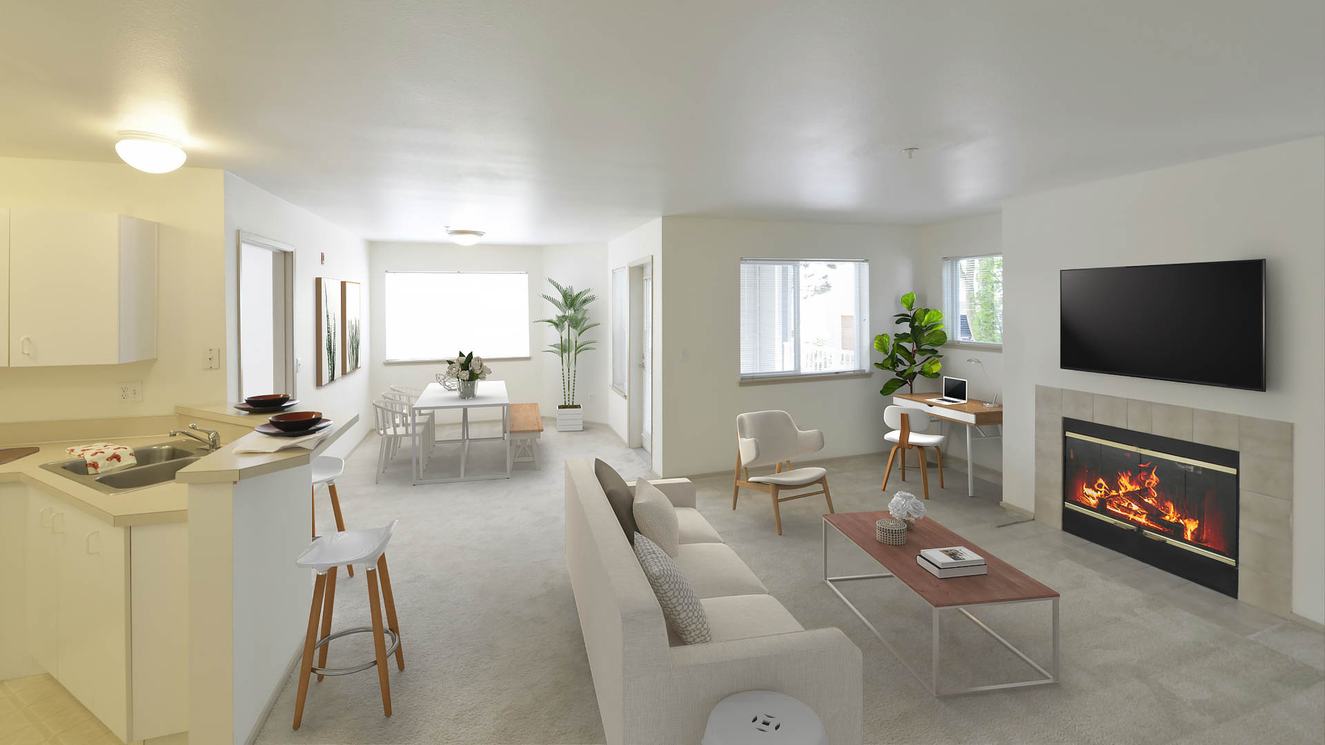Ivorywood Apartments - Living Area