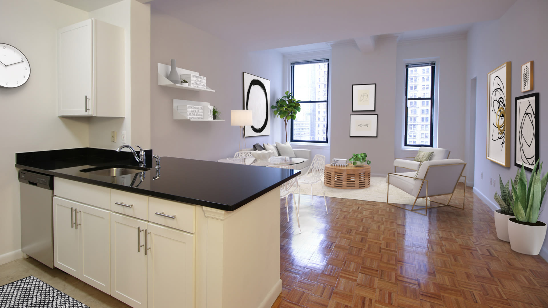 71 Broadway Apartments - Kitchen and Living Area
