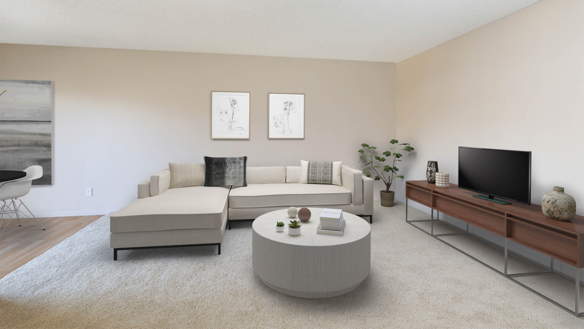 Virgil Square Apartments - Living Area