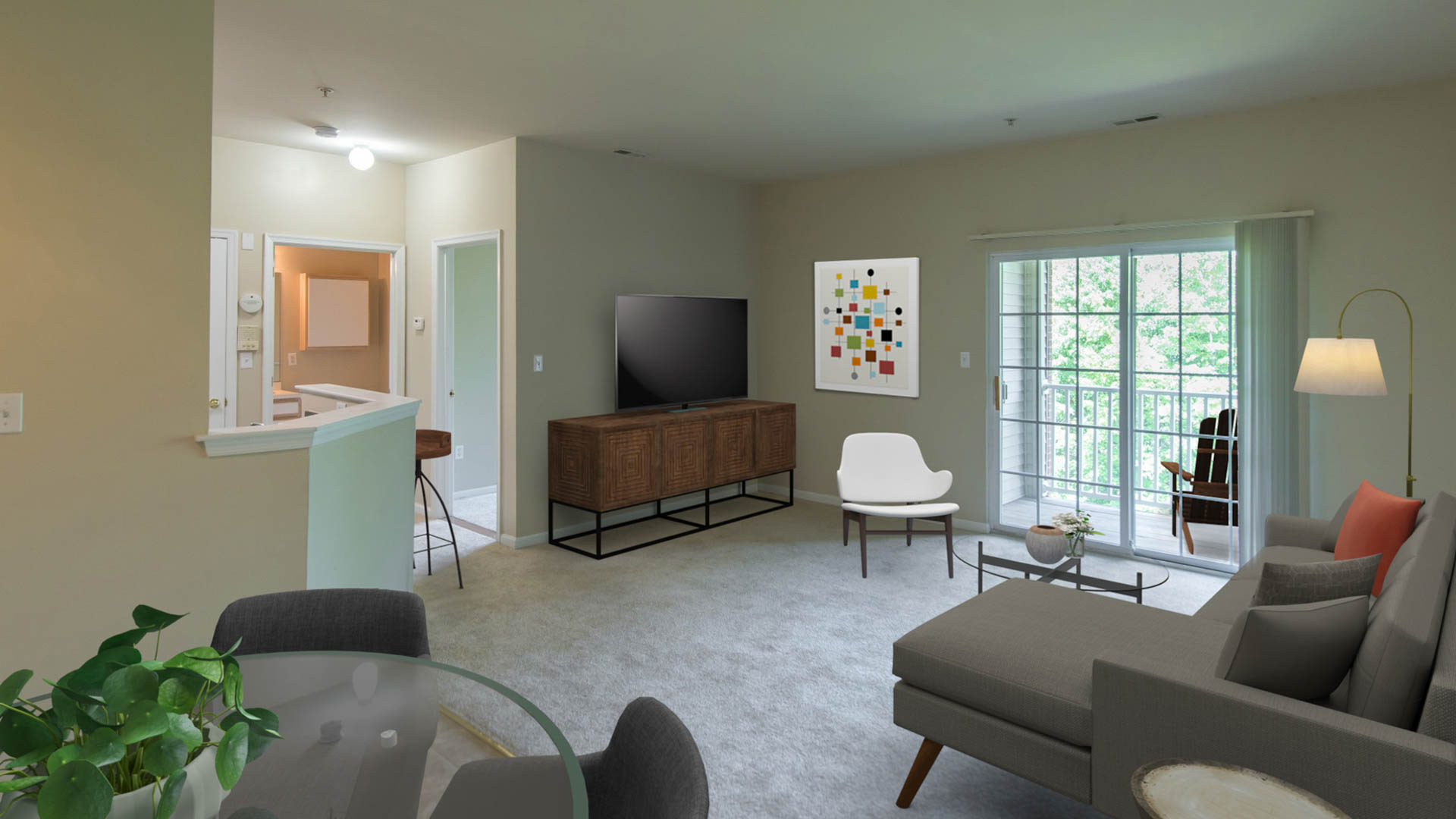 The Highlands at South Plainfield Apartments - Living Area