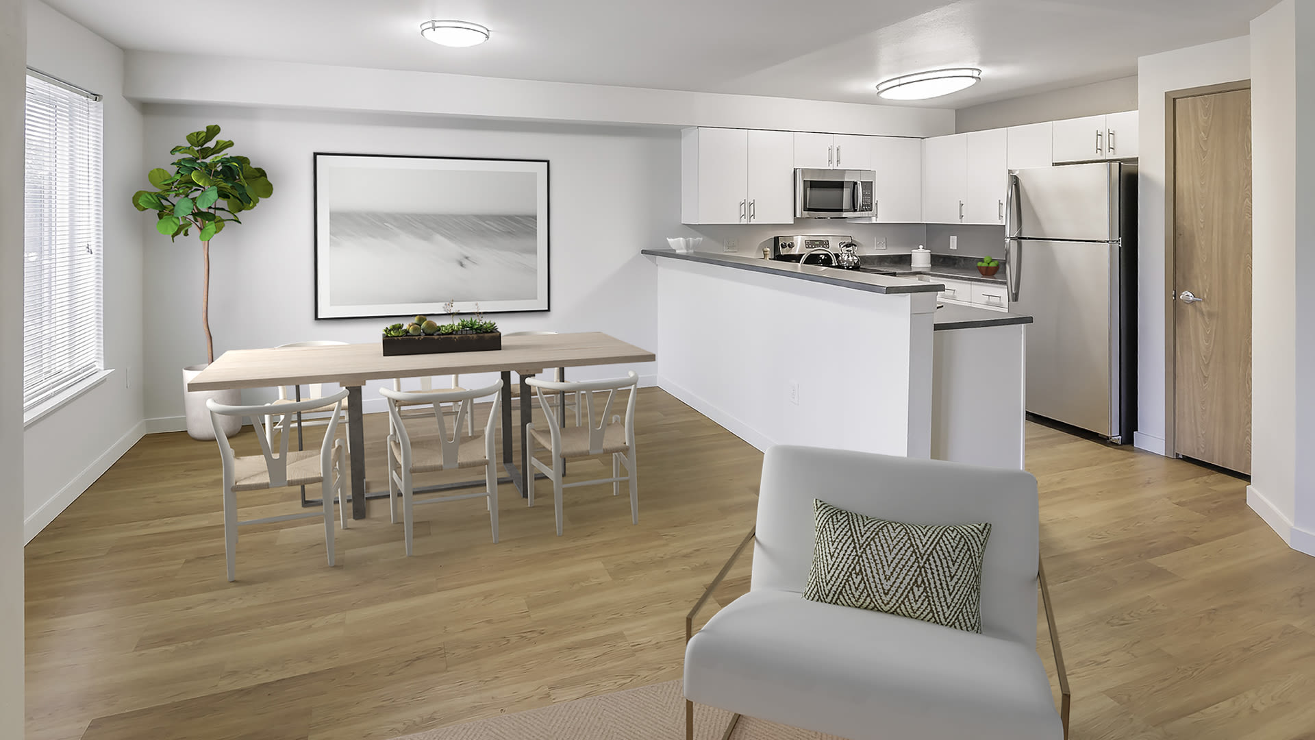 Heritage Ridge Apartments - Living Room and Kitchen