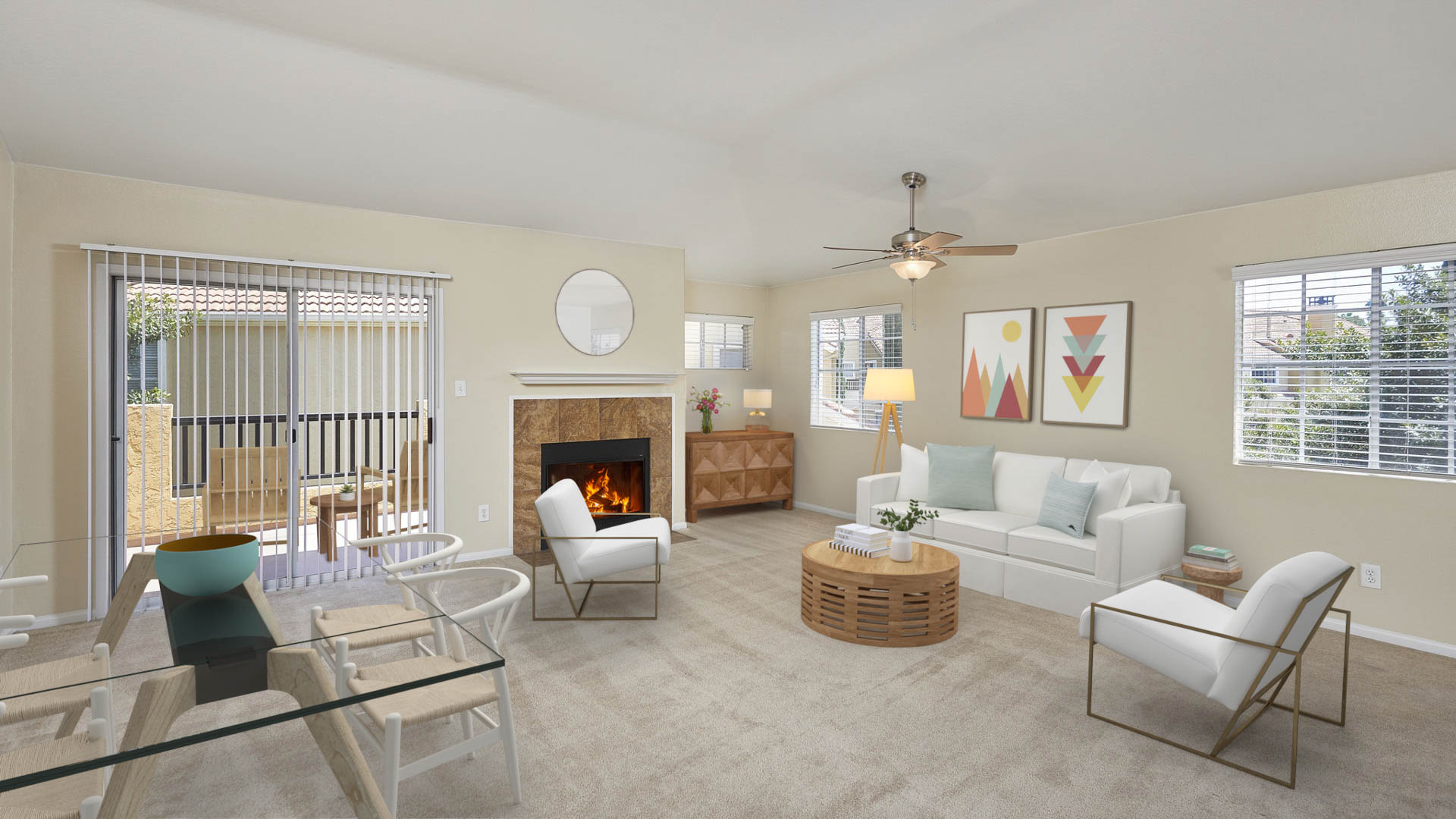 Deerwood Apartments - Living Area